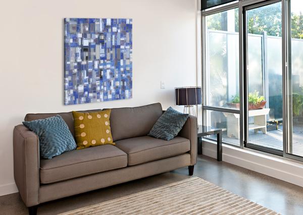 STAGE CHROME BLUE CELINE CIMON  Canvas Print