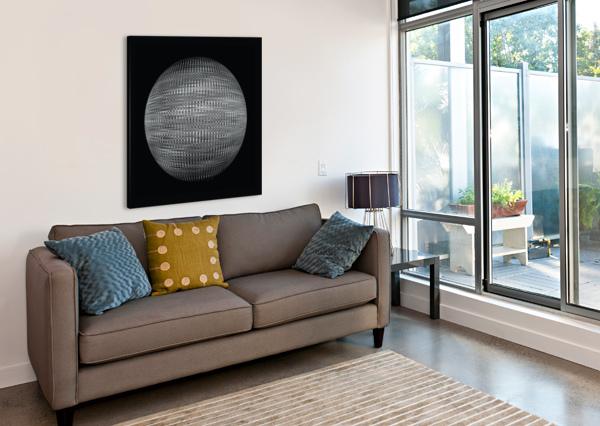 ORB BLACK AND WHITE CELINE CIMON  Canvas Print
