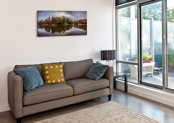 CENTRAL PARK LAKE PANORAMA ALEKSANDR VAYSBERG  Canvas Print
