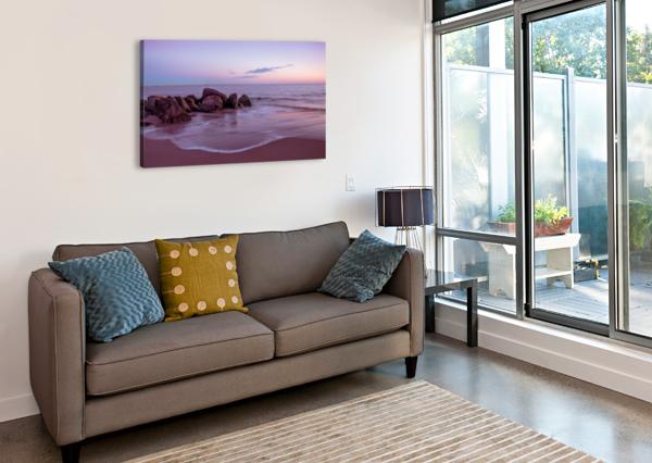 CONEY ISLAND SUNSET ALEKSANDR VAYSBERG  Canvas Print