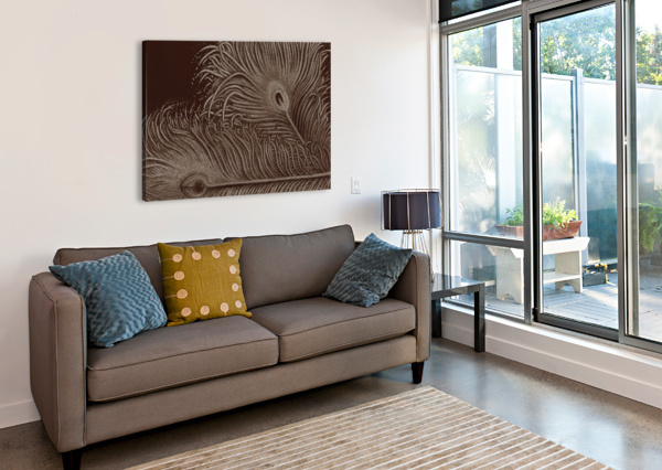 FULL BLOOM SEPIA ALTERED STATES OF GRAVITY  Canvas Print