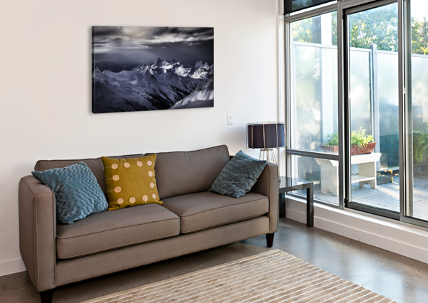 MOUNTAIN MOODS WHISTLER BC BACK-COUNTRY  BILLY STEVENS MEDIA   Canvas Print