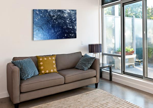 GLACIER ICE FORMATION  BILLY STEVENS MEDIA   Canvas Print