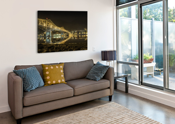 COLD REFECTION UNDER THE B.O.B NELSON BC BILLY STEVENS MEDIA   Canvas Print