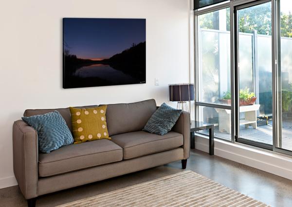 STARLIT POND BRIAN CAMILLERI PHOTOGRAPHY  Canvas Print
