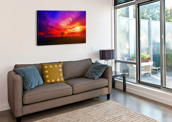 LAST SUNSET CANVASFINE  Canvas Print
