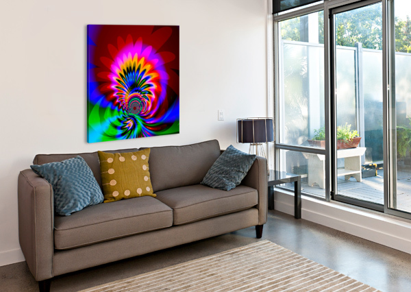 PSYCHEDELIC_FLOWER_SERIES_3 EGALITARIAN ART GALLERY  Canvas Print
