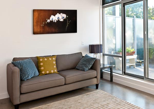 ORCHIDS AND MOONLIGHT KOS ART  Canvas Print