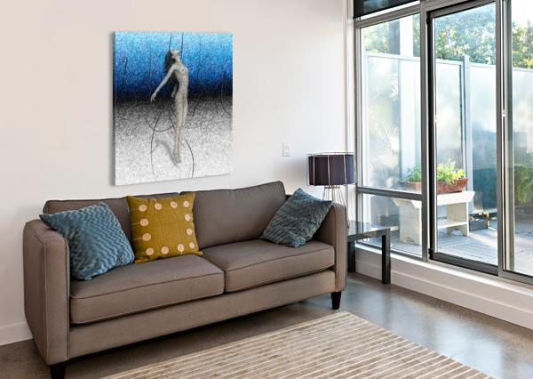 ASCENSION - BLUE KOS ART  Canvas Print