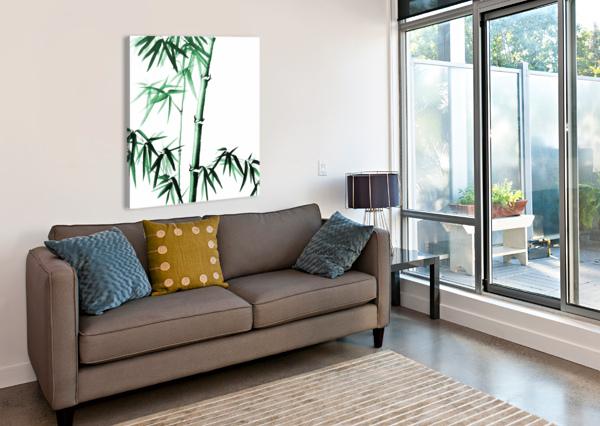 BAMBOO - CHINESE STYLE BIRGIT MOLDENHAUER  Canvas Print