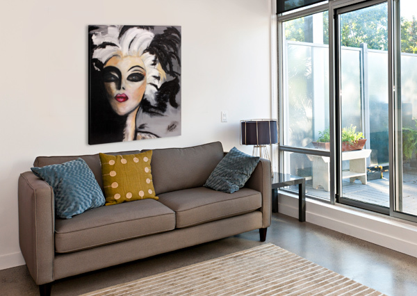 MY NEIGHBOUR WITH WHITE HAIR MARIE THERESE LACROIX  Canvas Print