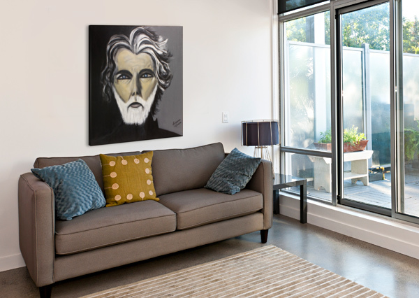 MY FRIEND WITH THE WHITE BEARD MARIE THERESE LACROIX  Canvas Print