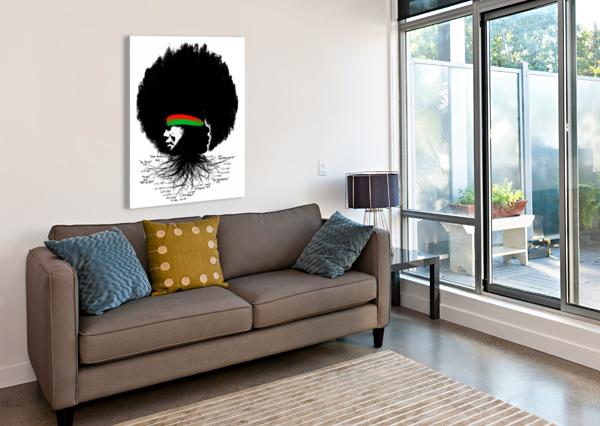 BLACK HISTORY  VINCENTSANTIAGO  Canvas Print