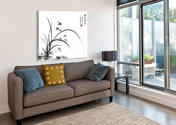 CHINESE IRIS BIRGIT MOLDENHAUER  Canvas Print