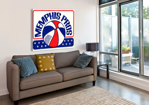 1971_AMERICAN BASKETBALL ASSOCIATION_MEMPHIS PROS_ROW ONE BRAND ROW ONE BRAND  Canvas Print