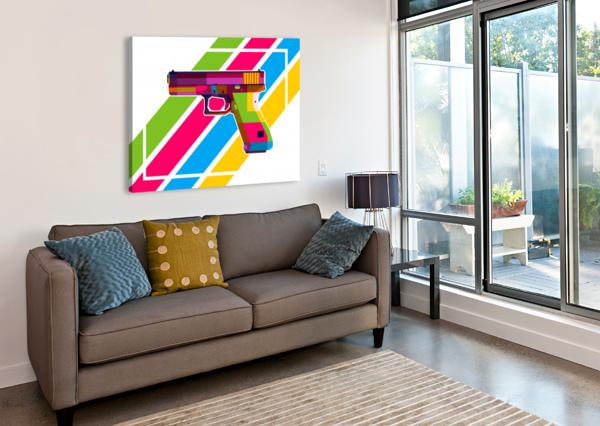 GLOCK HANDGUN WPAPRINT  Canvas Print