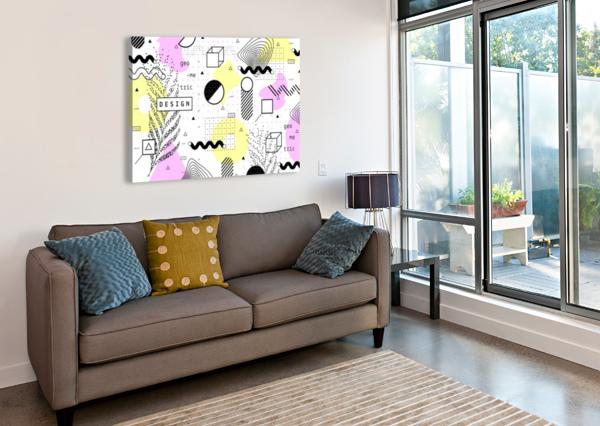 GRAPHIC DESIGN GEOMETRIC BACKGROUND SHAMUDY  Canvas Print