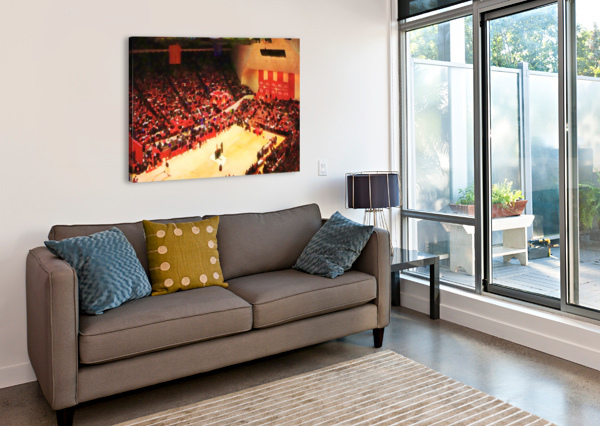 1987_COLLEGE_BASKETBALL_INDIANA HOOSIERS_BLOOMINGTON ASSEMBLY HALL WATERCOLOR BASKETBALL ART PRINT ROW ONE BRAND  Canvas Print