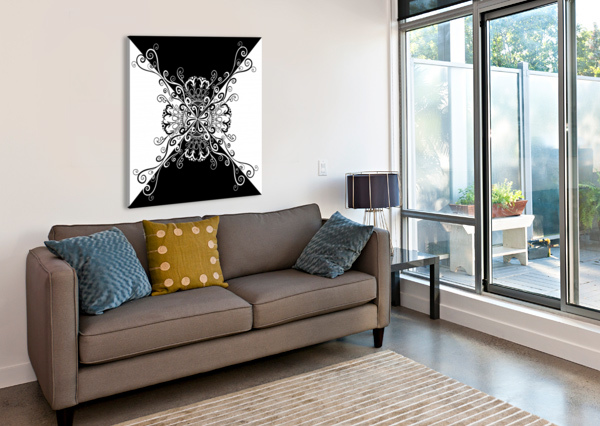 BLACK & WHITE CHINO20  Canvas Print