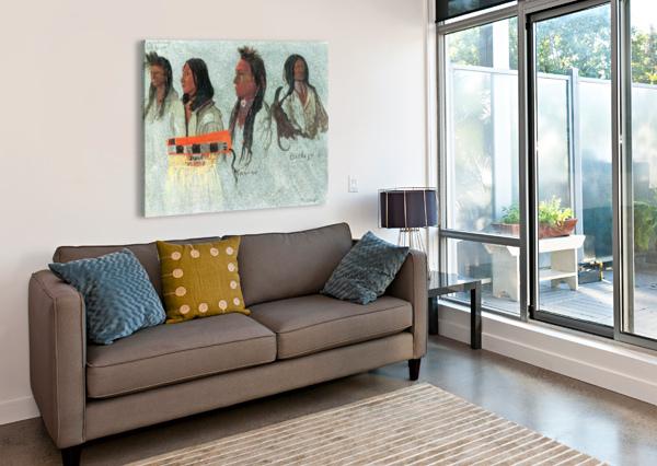 FOUR INDIANS BY BIERSTADT BIERSTADT  Canvas Print