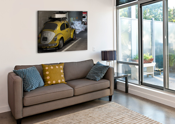 PUNCH BUGGY YELLOW NO PUNCHBACKS ANDREW WOOLNER  Canvas Print