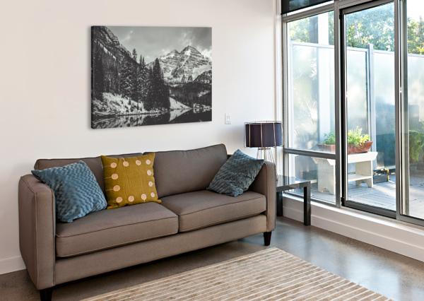 MAROON BELLS B&W  SEBASTIAN DIETL  Canvas Print