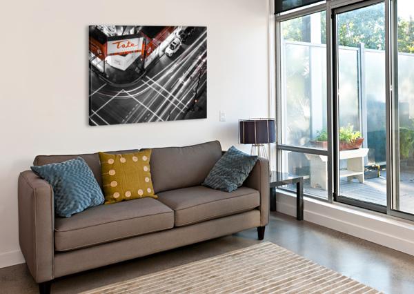 STREET LONG EXPOSURE ALDO CRUZ  Canvas Print