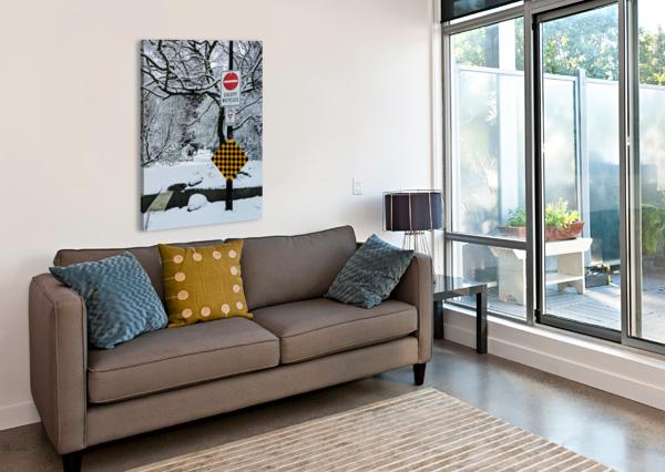 SNOWY DAY ALDO CRUZ  Canvas Print