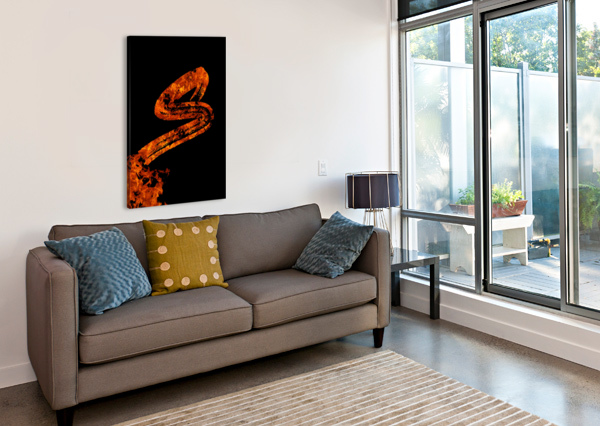 BURNING ON FIRE LETTER S ARTISTIC PARADIGMS  Canvas Print