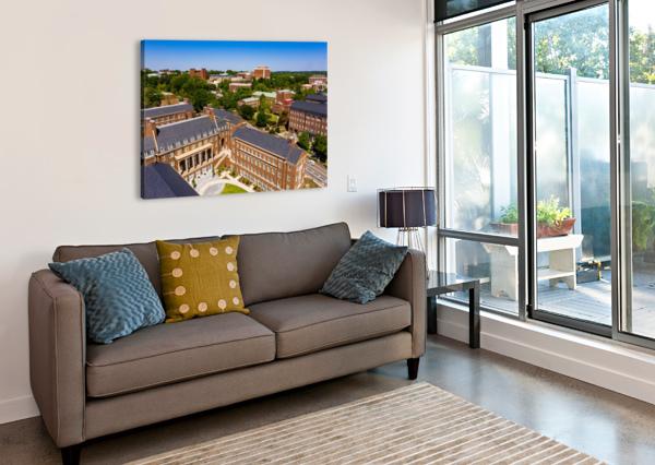 UNIVERSITY OF GEORGIA AERIAL VIEW   ATHENS GA 0905 @THEPHOTOURIST  Canvas Print