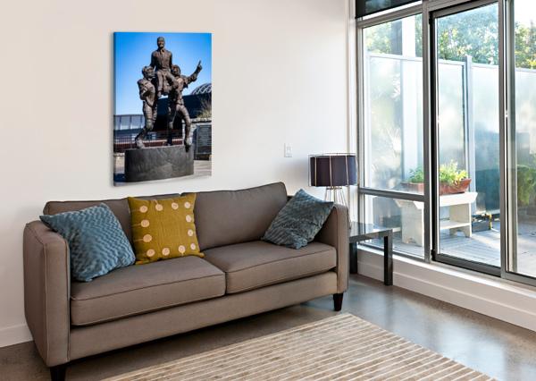 VINCE DOOLEY STATUE UNIVERSITY OF GEORGIA   ATHENS GA 07185 @THEPHOTOURIST  Canvas Print