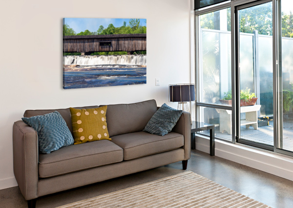 WATSON MILL BRIDGE STATE PARK   COMER GA 06715 @THEPHOTOURIST  Canvas Print