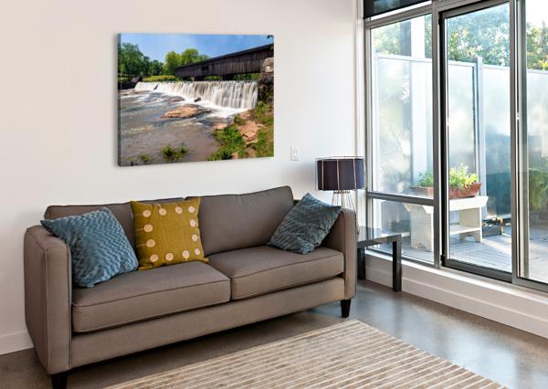 WATSON MILL BRIDGE STATE PARK   COMER GA 06914 @THEPHOTOURIST  Canvas Print