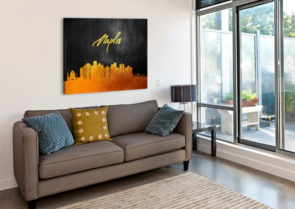NAPLES FLORIDA SKYLINE WALL ART ABCONCEPTS  Canvas Print