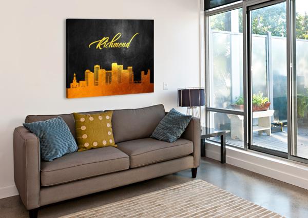 RICHMOND VIRGINIA SKYLINE WALL ART ABCONCEPTS  Canvas Print