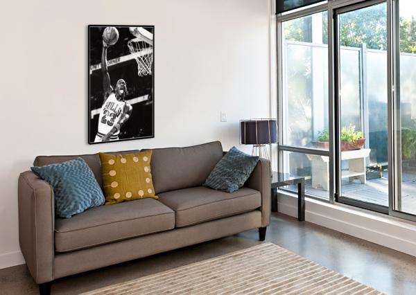 RETRO EIGHTIES MICHAEL JORDAN BASKETBALL ART PRINT ROW ONE BRAND  Canvas Print