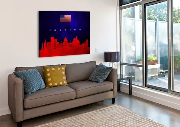 JACKSON FLORIDA SKYLINE WALL ART ABCONCEPTS  Canvas Print