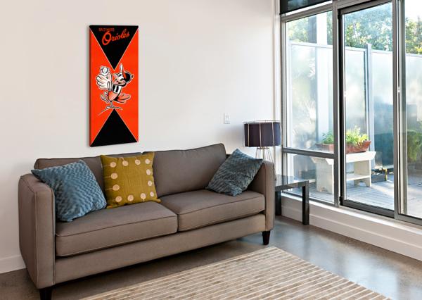 ROW ONE RETRO REMIX BALTIMORE ORIOLES PRESS GUIDE ROW ONE BRAND  Canvas Print