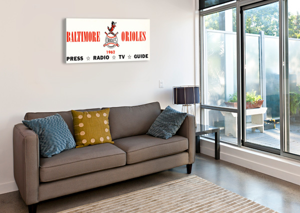 BALTIMORE ORIOLES PRESS GUIDE ROW ONE ROW ONE BRAND  Canvas Print