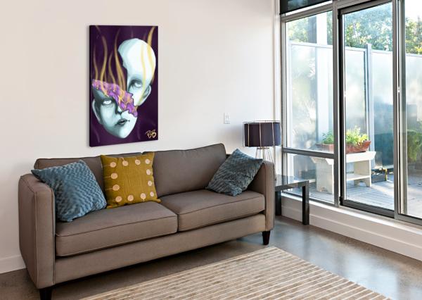 LADY ON ICE BENITA B  Canvas Print