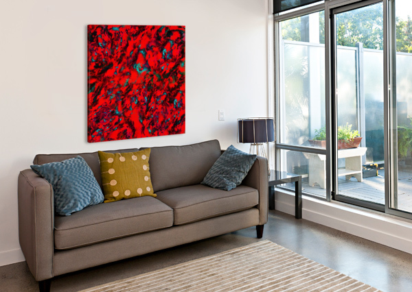 FLUTTERING RED KEITH MILLS  Canvas Print