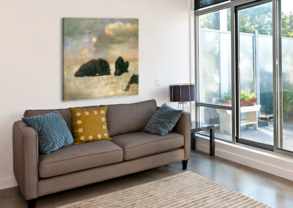 GRIZZLY BEARS BY BIERSTADT BIERSTADT  Canvas Print