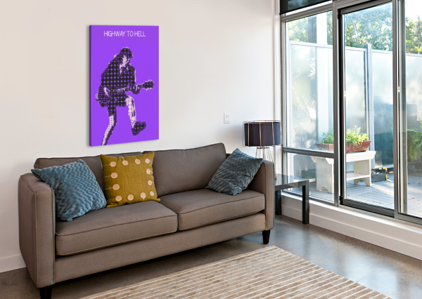 HIGHWAY TO HELL   ANGUS YOUNG GUNAWAN RB  Canvas Print