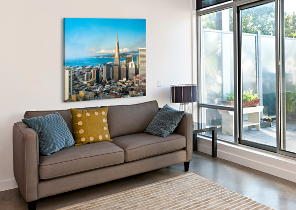 SAN FRANCISCO SKYLINE DAVID YOON  Canvas Print