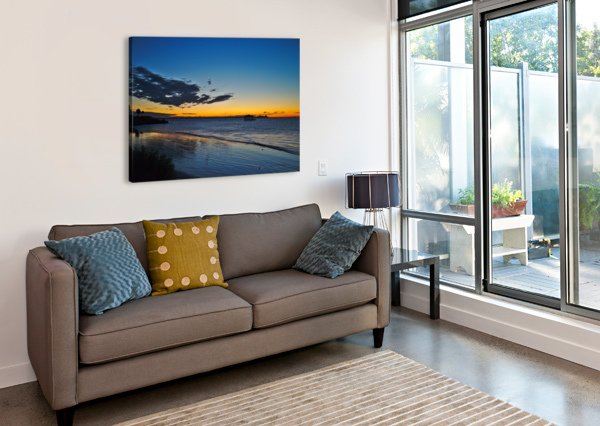 SUNRISE FULL FRAME ANTHONY M FARBER  Canvas Print