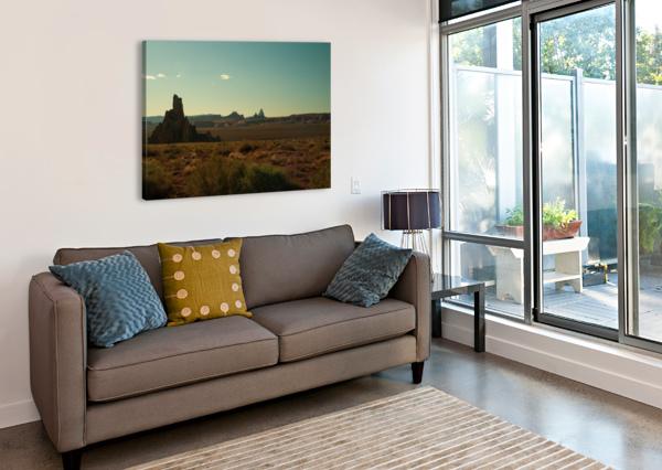 DESERT SCENE SUNSET ANTHONY M FARBER  Canvas Print
