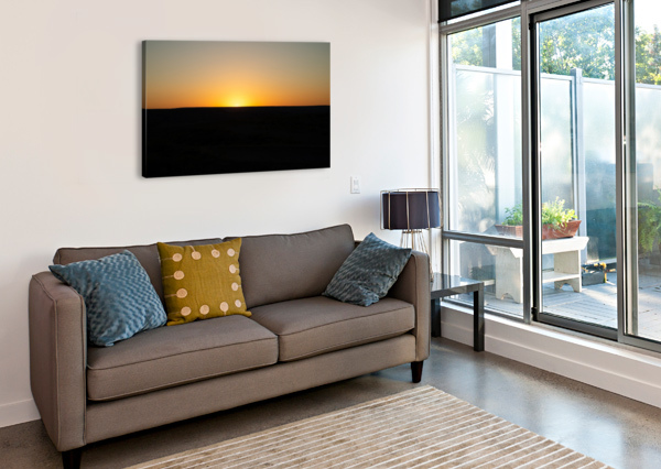 DESERT SUNSET ANTHONY M FARBER  Canvas Print