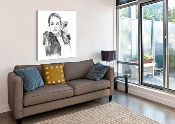 SELENA GOMEZ - CELEBRITY PENCIL ART ART LOVER  Impression sur toile