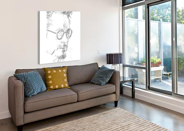 ROBERT DOWNY JR. - CELEBRITY PENCIL ART ART LOVER  Impression sur toile