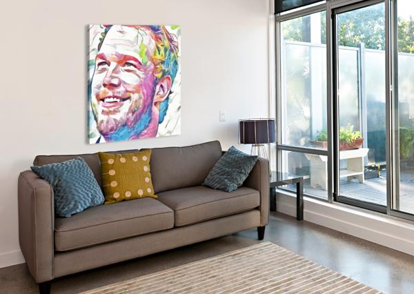 CHRIS PRATT - CELEBRITY ABSTRACT ART ART LOVER  Impression sur toile